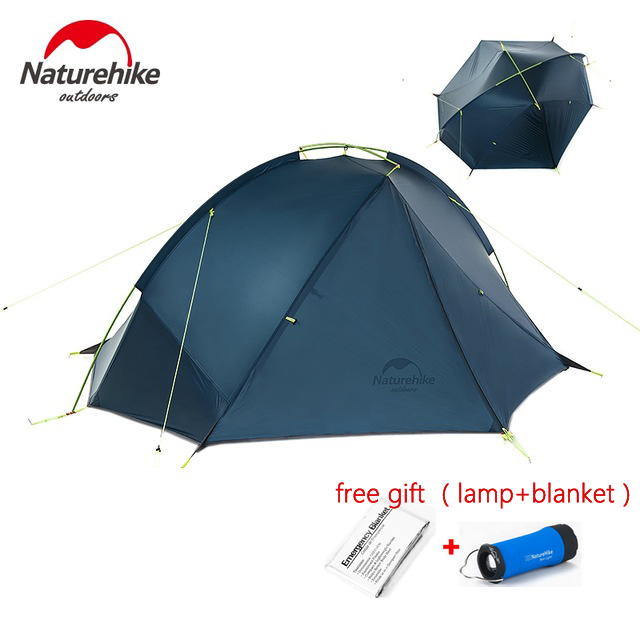 1KG only NH Single Person Backpacking Tent Pro 20D Silicone Fabric Rainproof Single Pole Ultralight NH Outdoor Hiking Camping high quality outdoor 2 person camping tent double layer aluminum rod ultralight tent with snow skirt oneroad windsnow 2 plus