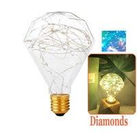 Colour Fairy Światła Led Edison E27 3 W 110 V 230 V LED Żarówki Żarnika Lampy Ciąg Retro Szkło Lampara ampułka Boże Narodzenie Ślub