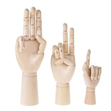 Art Craft Wooden Hand Model Figurines Sketching Drawing Home Office Desk toy Flexible Moveable Manikin Fingers Miniatures