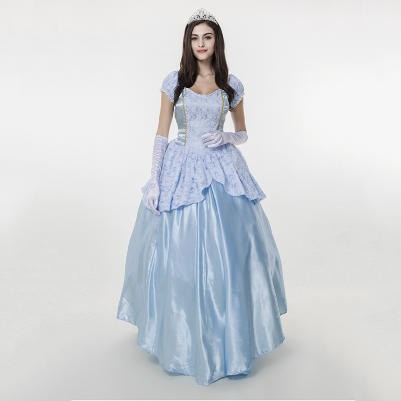 Halloween Costumes for Women Princess Dresses Adult Noble Blue Retro Court Dress SiSi Princess Fairy Tale Queen Costumes
