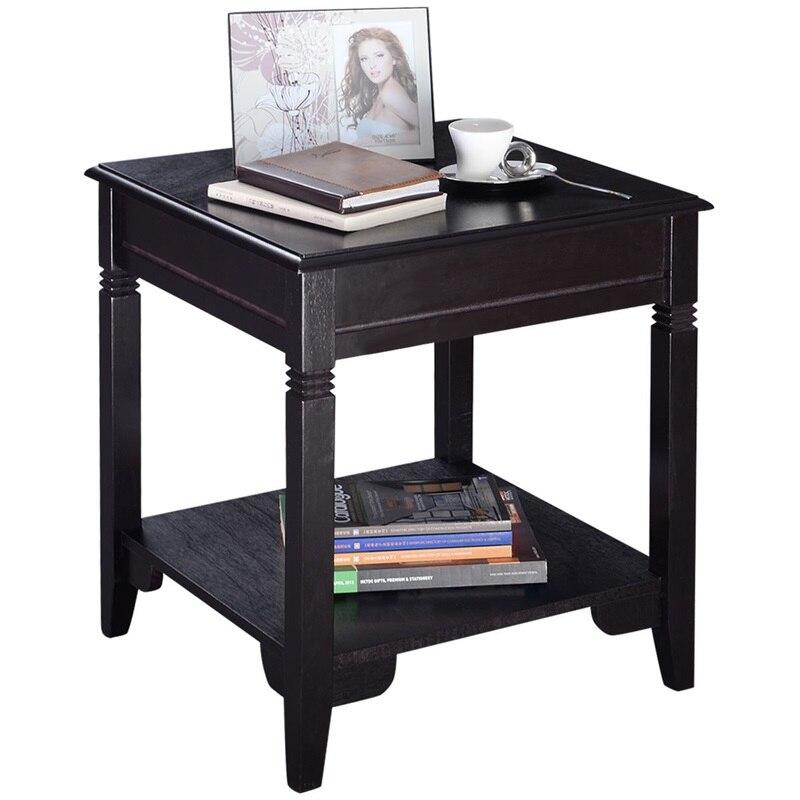 Cappuccino canapé en bois Table d'appoint Table basse Tables pour salon HW51532