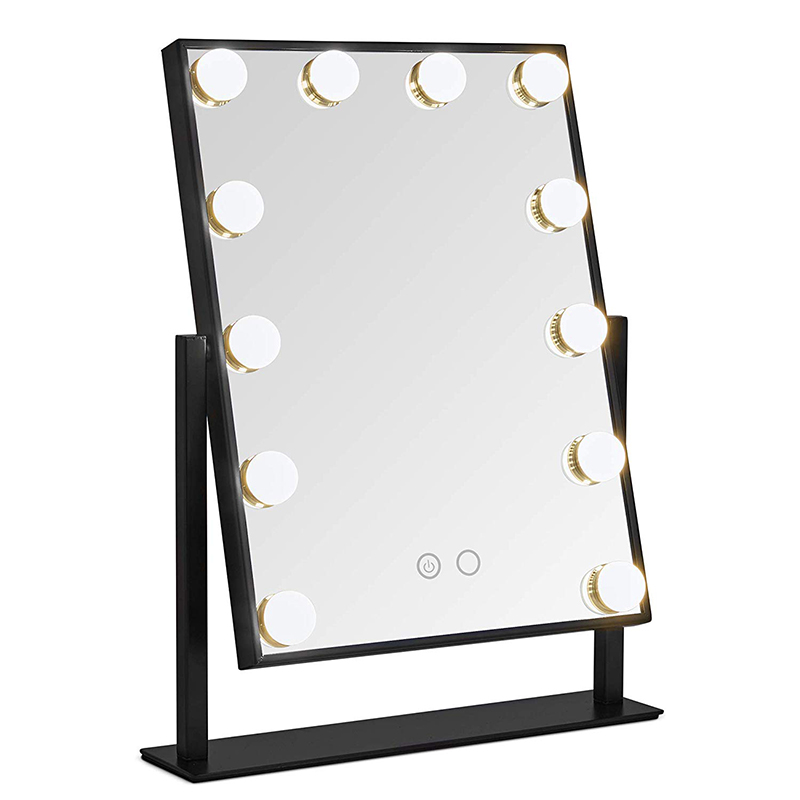 Beauty Makeup Mirror with Lights 12 LED Bulbs Vanity Touch Control Adjustable Brightness Beauty Salon Cosmetic Hollywood Mirror
