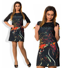 Big Size 3XL 4XL Women Dress 2016 Fashion Summer Style Dress Short Plus Size Party Dresses vestidos de festa 6xl 5xl Large Size
