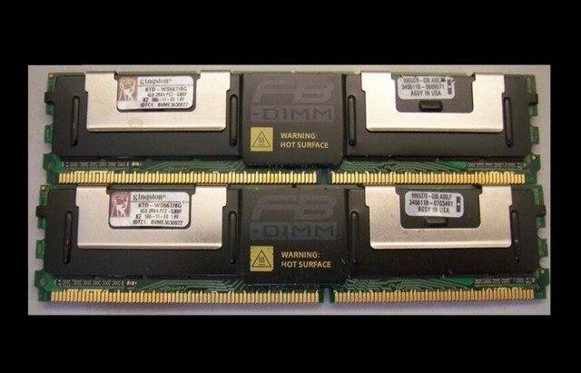 Оригинальный памяти сервера комплект KTD-WS667/16 Г (2*8 г) для Poweredge 1900,1950, 1955