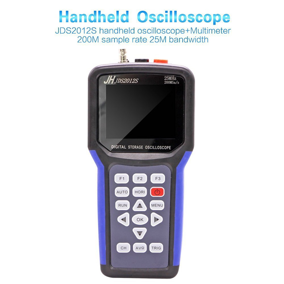 все цены на 2017 High Quality Original Jinhan JDS2012S handheld Digital oscilloscope and 6000 counts Digital Multimeter, 25MHz 200MSa/s онлайн