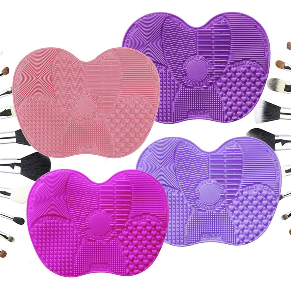 Silicone Makeup Brush Cleaning Mat Scrubbing Pad