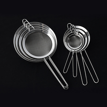 Cooking Oil Strainer Stainless Steel Fine Wire Mesh Oil Skimmer Strainer Flour Sifter Sieve Colander Kitchen Tools Accessories