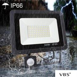 Zewnętrzne oświetlenie ogrodowe czujnik ruchu światło halogenowe 50W 6000K 4500 lm LED światło halogenowe foco lezhancior IP66 wodoodporny biały A1|Reflektory|Lampy i oświetlenie -