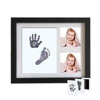 Newborn Baby Handprint Footprint Inkless Ink Pad Photo Frame Baby Keepsake Footprint Items Souvenirs for Babies Hand Foot PrintY