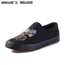 Maggie's Walker New Arrival Men Canvas Casual Shoes Fashion Slip-on Platform Folk Style Canvas Shoes Size 39~43