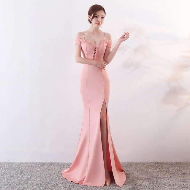 CX SHINE SEXY beading champagne mermaid trumpet long evening dresses robe de soiree blue burgundy prom party dress Vestidos