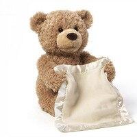 Peekaboo Teddybär Verstecken Spielen tragen Schönen Cartoon Ausgestopften Bären Nette weiche Musik Plüschtier