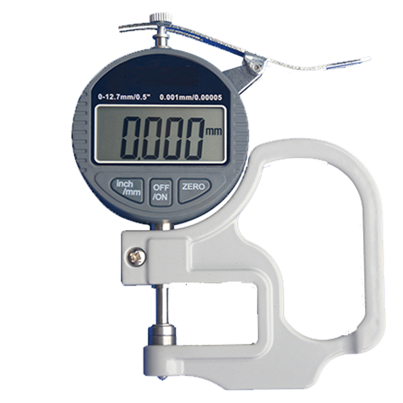 Digital micrometer Thickness Gauge Range 0-12.7mm,  Accuracy: 0.001mm paper / film / fabric / tape thickness gauge