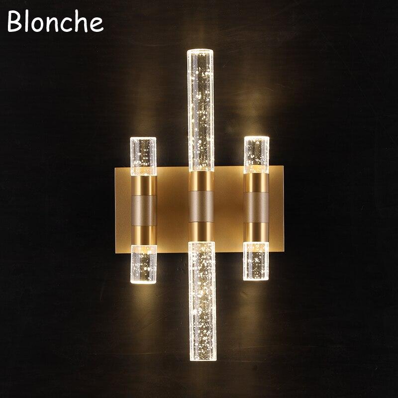 Пост современная Bubble Кристалл Бра Роскошные светодио дный бра Спальня Ванная комната зеркало свет домашний декор, освещение светильники