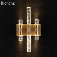 Post modern Bubble Crystal Wall Lamp Luxury Led Wall Sconce Bedroom Bathroom Mirror Light Home Decor Lighting Fixtures Luminaire
