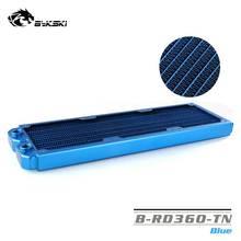 BYKSKI 28 мм толщиной меди 360 мм Однорядный радиатор компьютера водяного охлаждения жидкого теплообменника использовать для 12 см вентиляторов B-RD360-TN