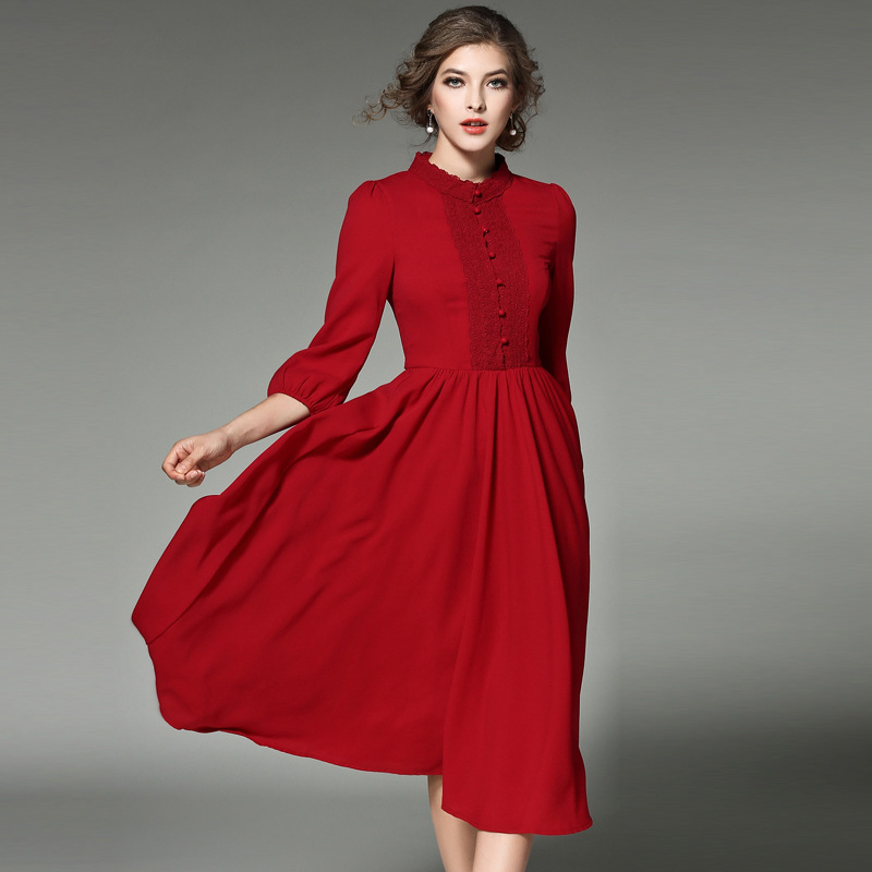 3e1502443a564 Maternity Seraphine Womens Knot Front 3/4 Sleeve Maternity Dress Shops
