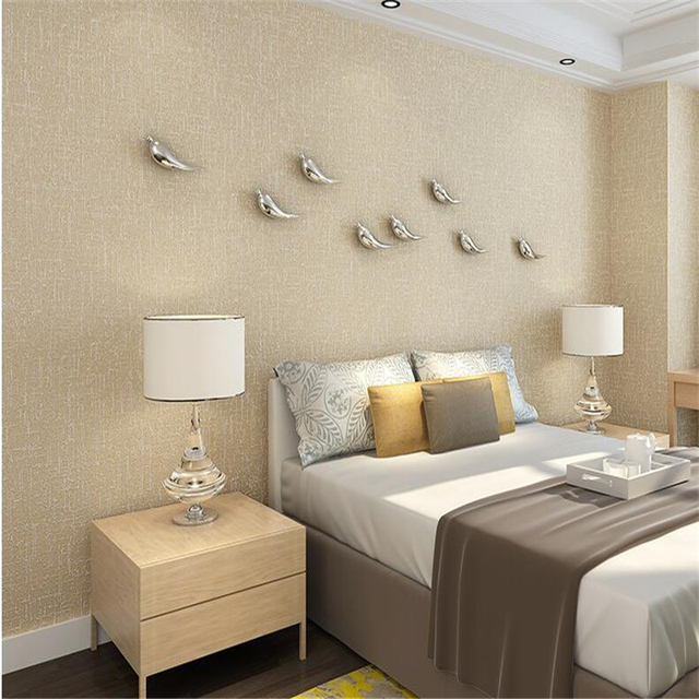 Beibehang Eenvoudige moderne effen kleur behang woonkamer ...