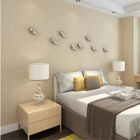 Simple Modern Solid Color Wallpaper Living Room Bedroom TV Background Wall Warm Non Woven Solid Color