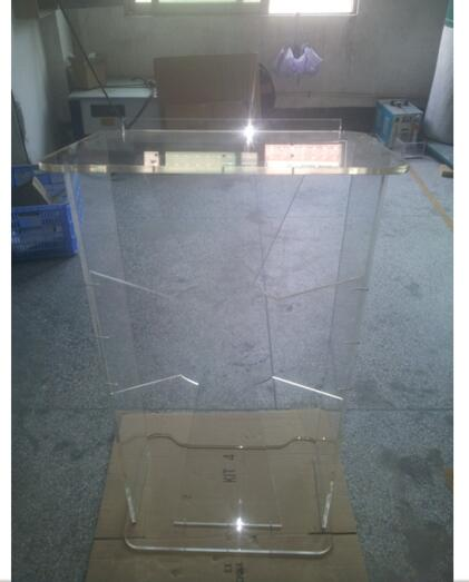 Cross Shape Perspex Acrylic Podium Lectern Y Acrylic Pulpit Perspex School Podium Lucite Church Lectern With Center Cross