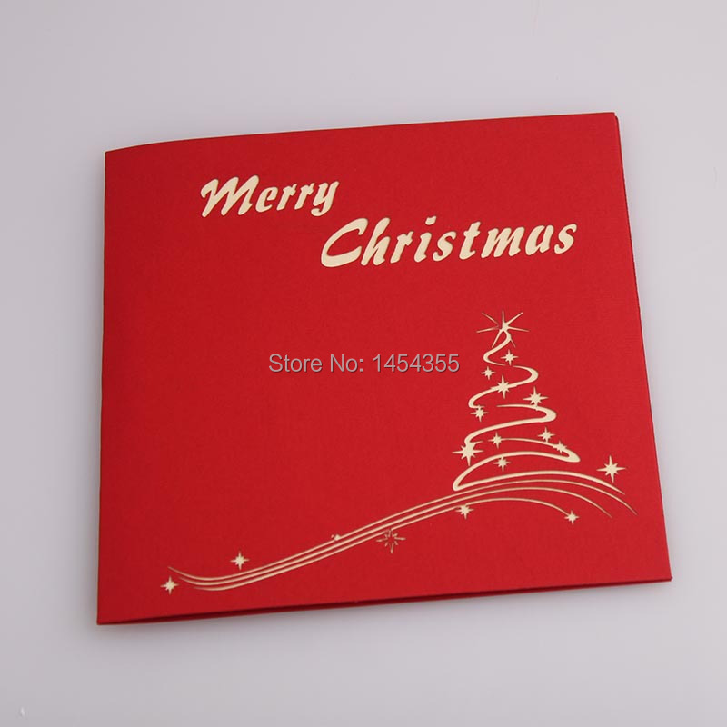 new design for 2015 Christmas Tree greeting cards, 3D pop up Xmas ...