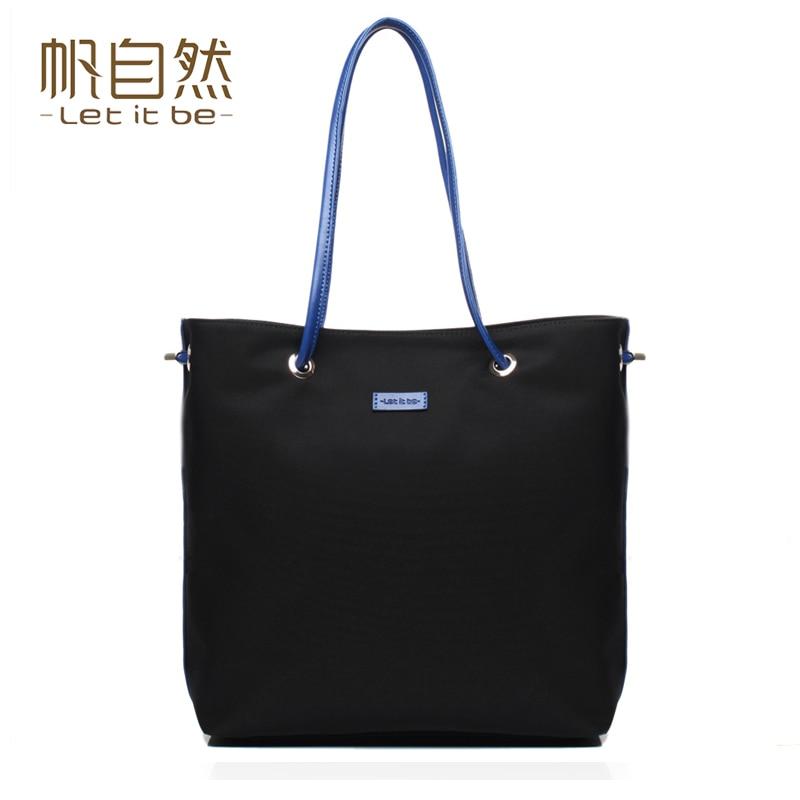 ФОТО 2016 women handbag oxford nylon tote women bag for girls messenger bag waterproof brand let it be designer crossbody bolsas