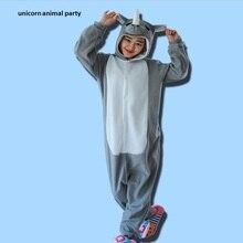 Halloween Pyjamas Adult Rhinoceros Pajamas Onesie Sleepwear Costume Cosplay Jumpsuit Romper Party Carnival Christmas