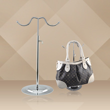 Metal Bags Wigs Products Display Holder Hook Rack Stand By Chrome Plated Rotatable Adjustable 10PCS