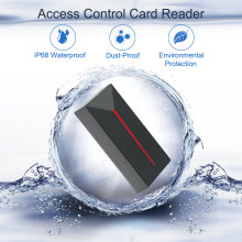 RFID Reader Long Range 125KHZ/13.56MHZ Access Control RFID Reader Black Proximity Small Card Reader IP68 Waterproof Wiegand26/34 new arrival k5 waterproof id card reader with keypad for access control system wiegand26 card reader weigand card access reader