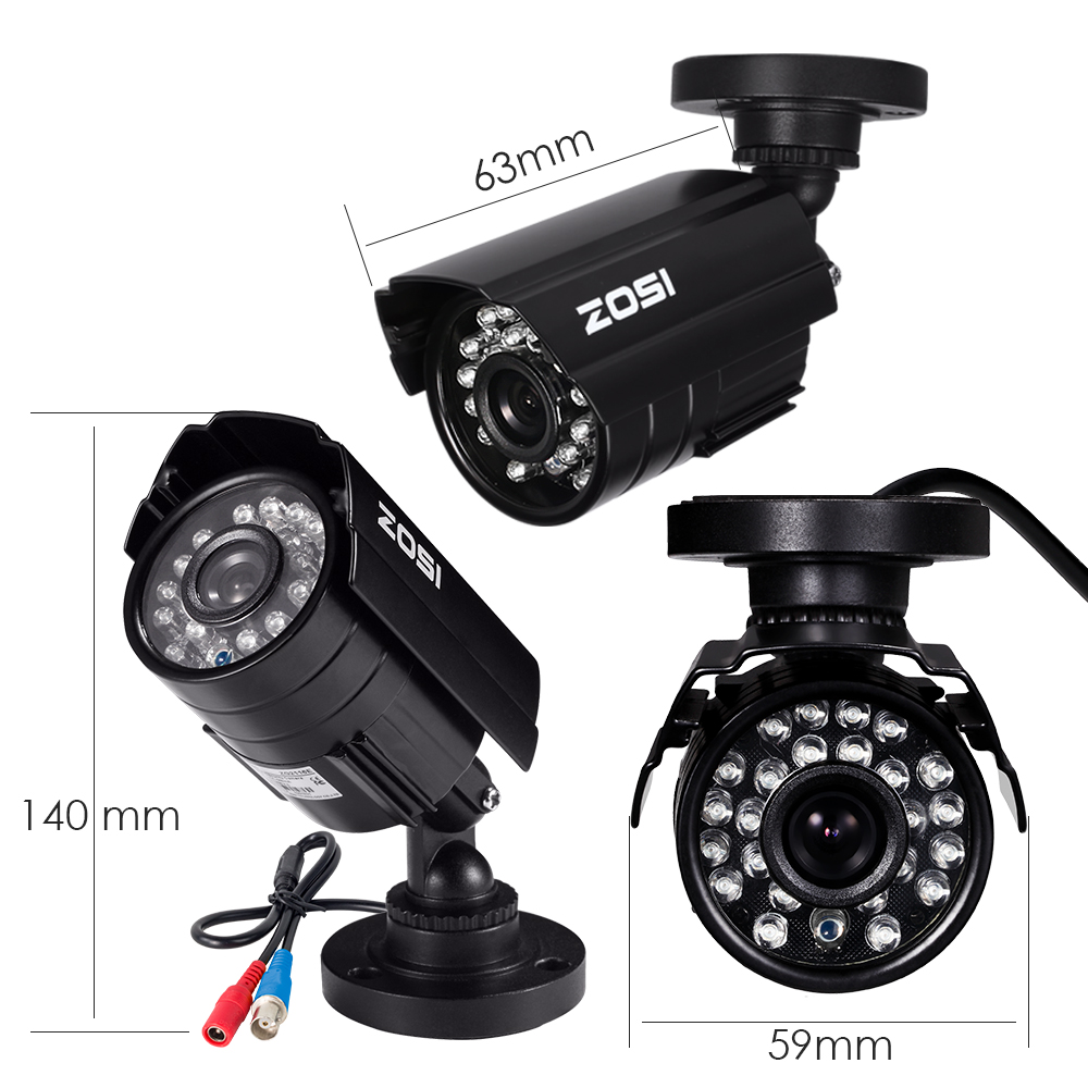 Image 2 - ZOSI 720P 1MP TVI/AHD/CVI/Analog CCTV Nightvision Motion Sensor Waterproof Bullet Camera-in Surveillance Cameras from Security & Protection