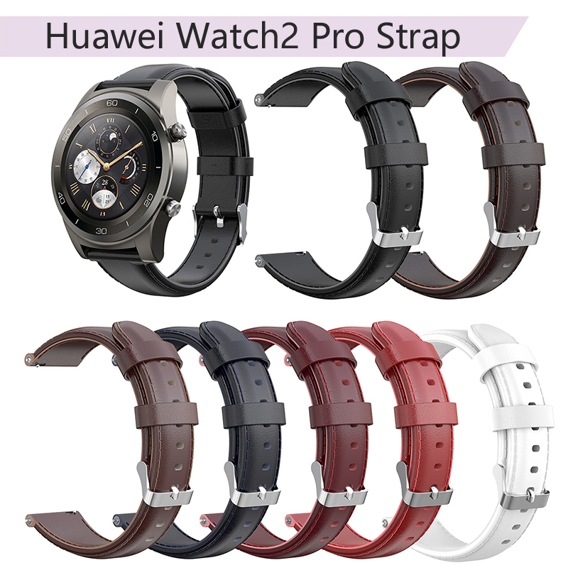 Permalink to Watchband for Huawei Watch2 Pro Huami Amazfit Pace Huami AMAZFIT Stratos Universal Oil Wax Calf Leather Strap 22MM Wristband