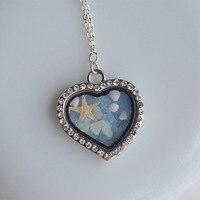 Beach Starfish Luminous Glow In The Dark Heart Copper Chain Choker Necklace Pendants Women Vintage Fine