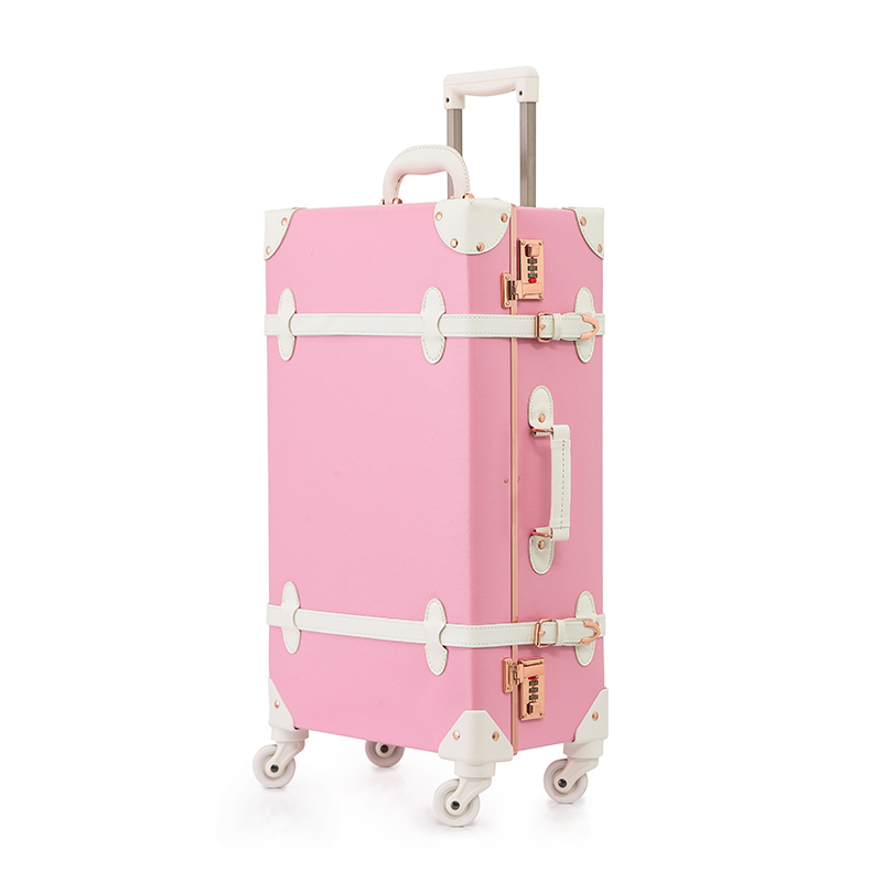 Pink Leather Suitcase Promotion-Shop for Promotional Pink Leather ...