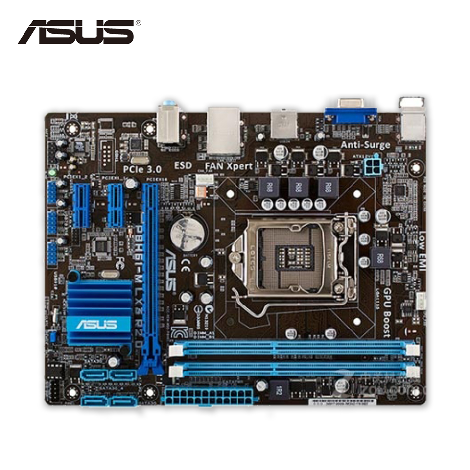 Asus P8H61-M LX3 R2.0 Desktop Motherboard H61 Socket LGA 1155 i3 i5 i7 DDR3 16G uATX Second-hand High Quality