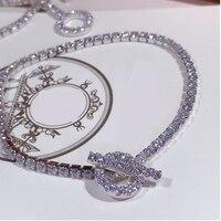 925 Sterling Silver Shining Cubic Zircon CZ Chain Link 16cm, 17cm Bracelet for Women Charm Crystal Bracelet Gift Jewelry