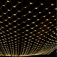 1set 2m 2m Net Lights 144 LED Net Mesh Decorative Fairy Lights Twinkle Lighting Christmas Wedding