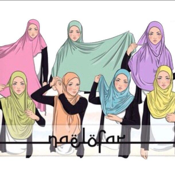 Wholesale Islamic Long Malaysia Hijab Women Glitter ONE LOOP INSTANT HIJAB Muslim Shawl Turban Head Cover Scarf Headscarf