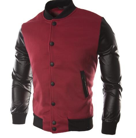 Men's Sweatshirt Hoodie Men's Long-sleeved Pu Leather Mol Jacket Cotton Poleron Hombre Wool Sport Warm Wind Jacket Men's Jacket