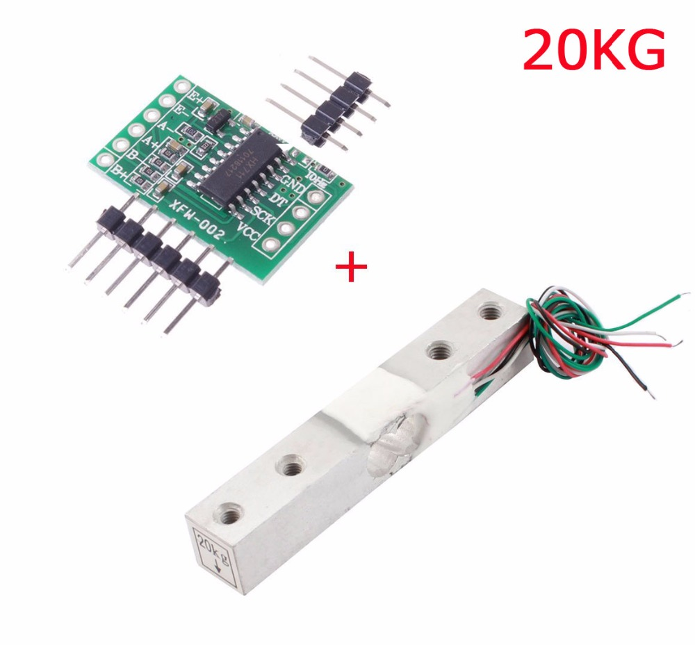 Aihasd Digital Load Cell Weight Sensor 20KG Portable Electronic Kitchen Scale + HX711 Weighing Sensors Ad Module for Arduino