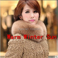 2014 Unisex Custom Fur Collar Women's Fur Coat Collars Solid Fox Ring Freeshipping Hot Sale Real Top Fashion Direct Selling