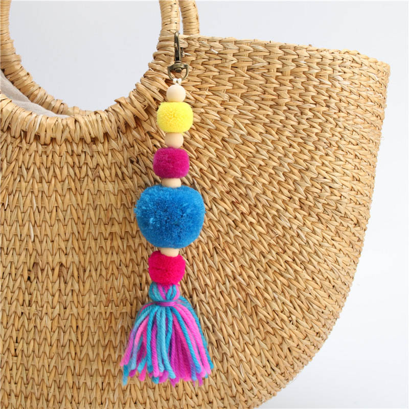 Luggage & Bags Boho Women Colorful Tassel Key Chain Handbag Accessories Car Keyring Purse Decor