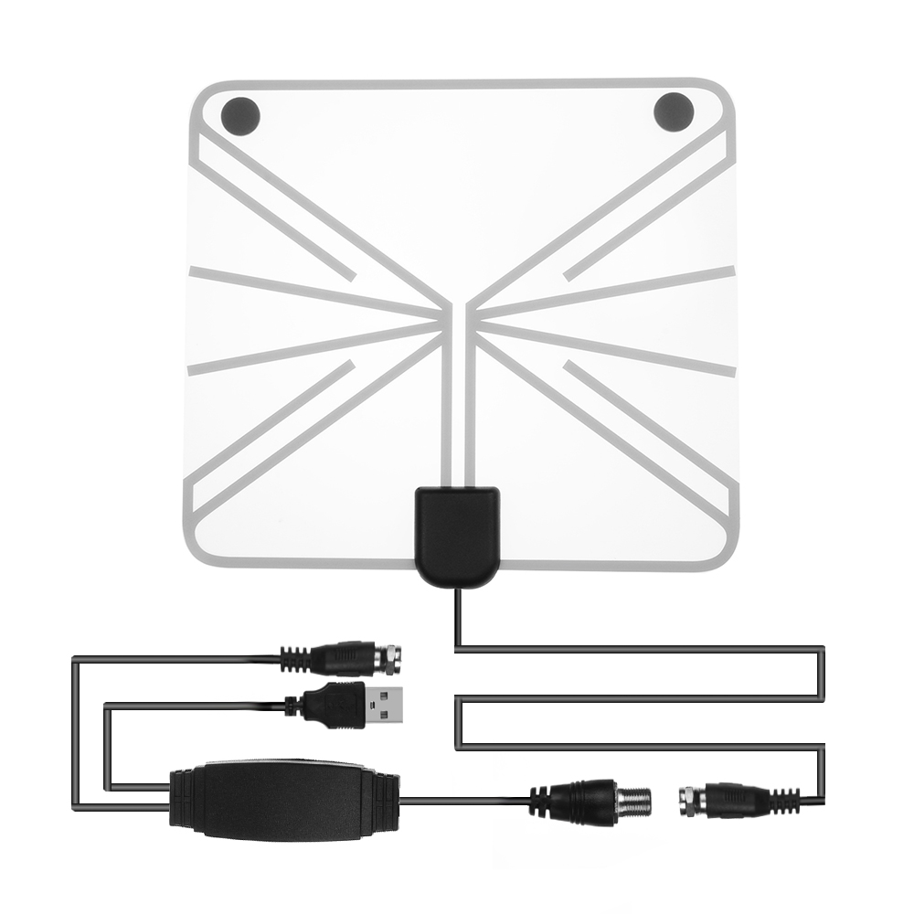 1PC 50 100 Mile Range HDTV Antenna Digital Flat Clear View