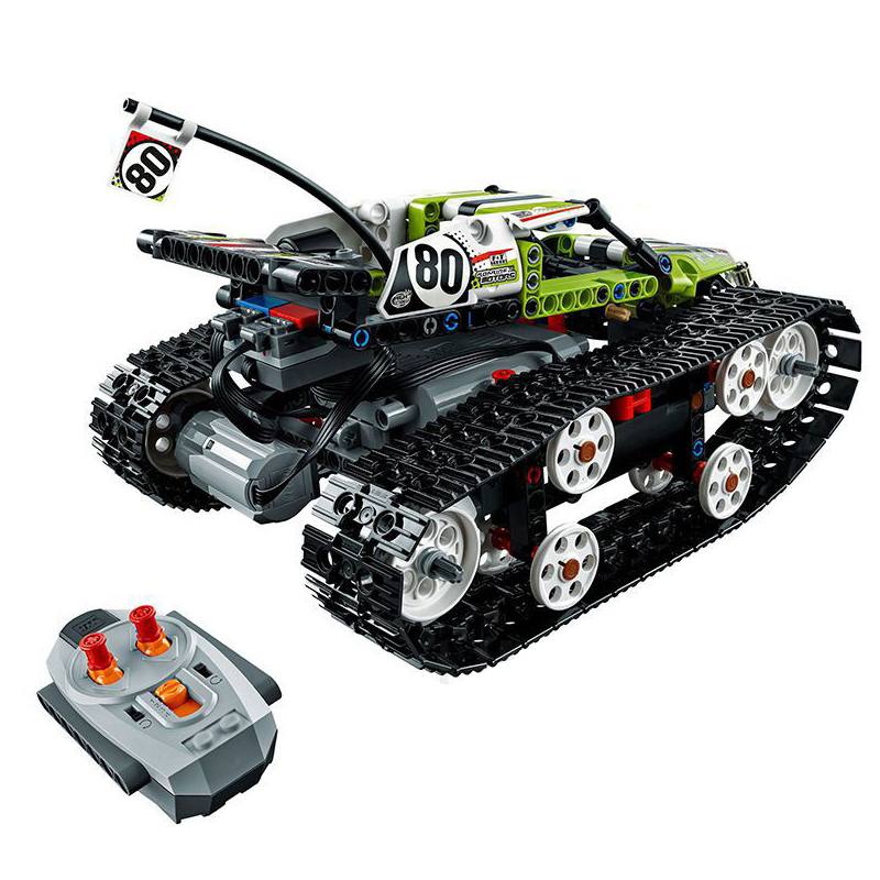 Technic Series 397pcs Building Blocks Compatible <font><b>Legoe</b></font> Technic <font><b>42065</b></font> toys for Childrens Bricks RC Tracked Racer gifts image