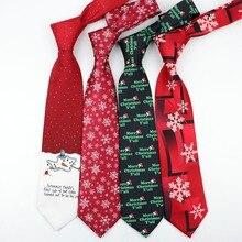 Рождественский галстук мужской Модный повседневный необычный Снежинка Полиэстер Профессиональный галстук четыре размера Галстуки