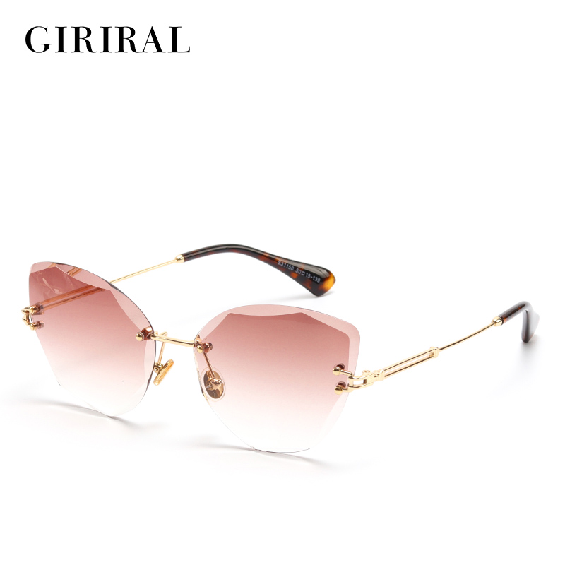 2018 Metal women sunglasses clear vintage transparent high quality fashion colored retro sun glasses #S31150