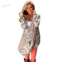 Losse Casual Vest Vrouwen Plus Size Fall Asymmetrische Lange Vesten Fashion Geometrische Printing Schouderophalen Jassen Jacket 63 #