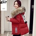 2016 новый Корейский свободные утолщение короткий хлопок вниз куртка женская зимняя куртка большой размер