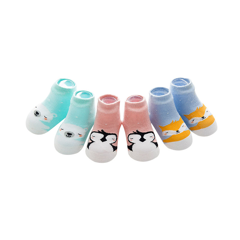 3 Pair/set Baby Socks Animal Cute Cartoon Infantil Sock Gift Kids Cotton Anti Slip Baby Wears For Girls Boys Newborn 0-3 Years Curing Cough And Facilitating Expectoration And Relieving Hoarseness Socks, Tights & Leggings