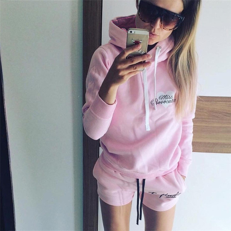 Women Hoodies Sweatshirt Female Long Sleeve Pink 2017 Casual Harajuku Winter Letter Hoodies for Girls Pullover Mujer Sudaderas