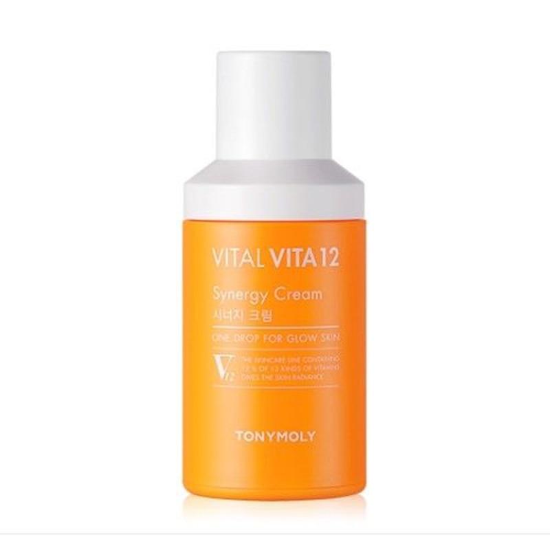 Korean Cosmetics VITAL VITA 12 Synergy Cream 45ml Face Cream Vitamin C Serum Moisturizing Skin Care Brighten Whitening Cream skinfood yuja water c cream 63ml skin moisturizer korean cosmetics